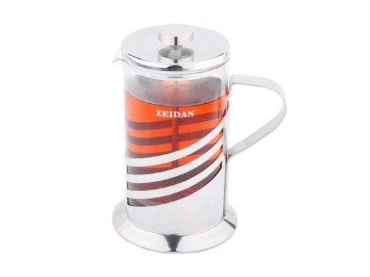 Френч-пресс Zeidan Z-4065 серебристый 0.6 л металл/стекло