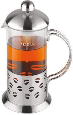 Френч-пресс Zeidan Z-4074 серебристый 0.35 л металл/стекло