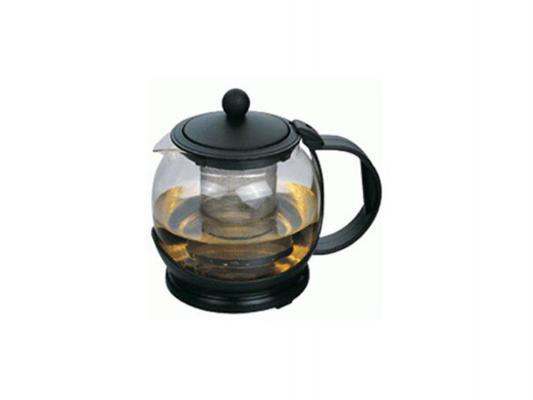 Чайник заварочный Zeidan Z-4101 чёрный 0.8 л пластик/стекло
