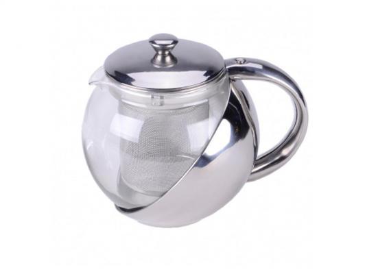Чайник заварочный Zeidan Z 4103 серебристый 0.75 л металл/стекло