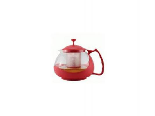 Чайник заварочный Zeidan Z-4106 1.1 л пластик/стекло красный