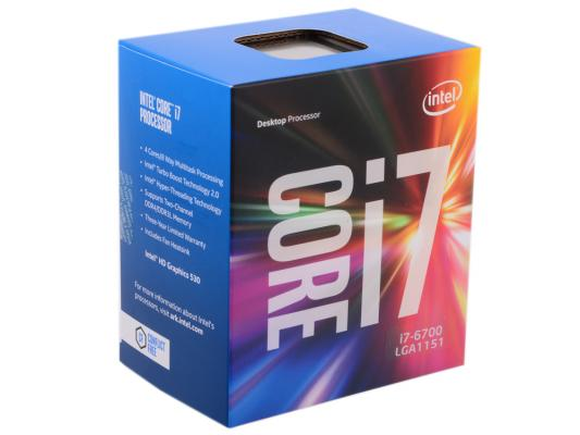 Процессор Intel Core i7-6700 3.4GHz 8Mb Socket 1151 BOX процессор intel core i5 6600 3 3ghz 6mb socket 1151 box