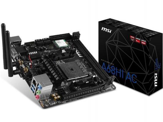 Материнская плата для ПК MSI A68HI Socket FM2+ AMD A68H 2xDDR3 1xPCI-E 16x 1xPCI 4xSATAIII mini-ITX Retail