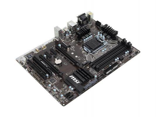 Материнская плата для ПК MSI H170A PC MATE Socket 1151 H170 4xDDR4 2xPCI-E 16x 2xPCI 3xPCI-E 1x 6xSATAIII ATX Retail