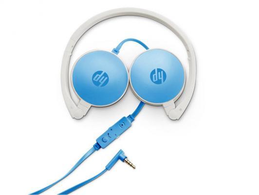 Гарнитура HP H2800 бело-голубой J9C30AA гарнитура hp h2310 черный j8h42aa