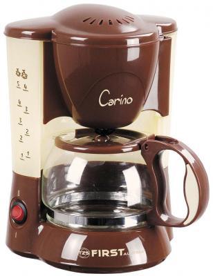 купить Кофеварка First FA-5458 коричневый по цене 1290 рублей