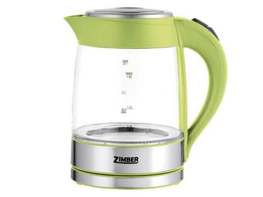 Чайник Zimber ZM-10818 2000 зелёный 1.8 л металл/стекло