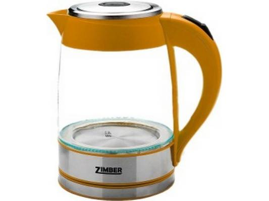 Чайник Zimber ZM-10819 2000 оранжевый 1.8 л металл/стекло утюг zimber zm 10711