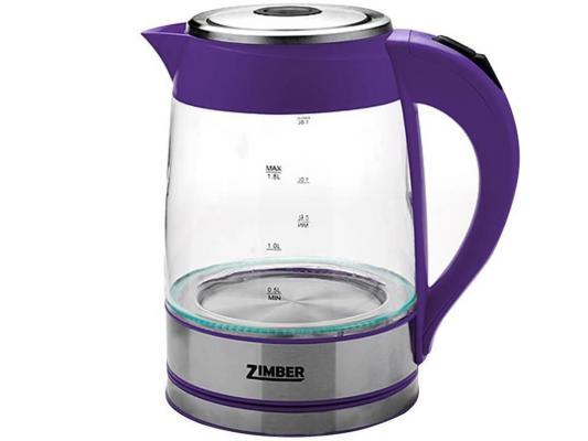Чайник Zimber ZM-10820 2000 Вт 1.8 л металл/стекло фиолетовый