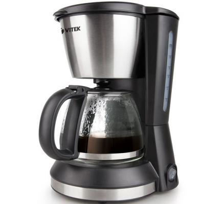 Кофеварка Vitek VT-1506 BK черный кухонный комбайн vitek vt 1437 bk черный