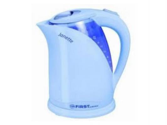 Чайник First 5428 2000 Вт синий 2 л металл/пластик