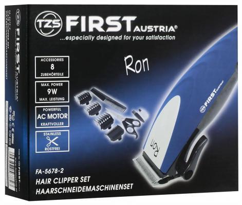 Машинка для стрижки волос First 5678-2 бордовый