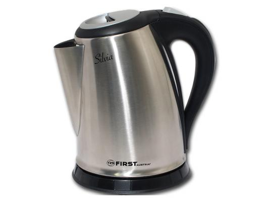 Чайник First 5410 2200 Вт серебристый 1.7 л металл/пластик