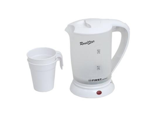 Чайник First 5425-2 700 белый 0.5 л металл/пластик