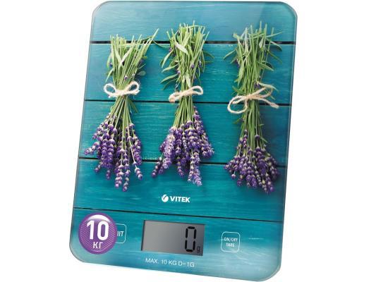 Весы кухонные Vitek VT-2415 B синий рисунок цена и фото