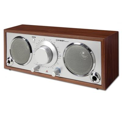 лучшая цена Радиоприемник First 1907-1 серебристо-коричневый
