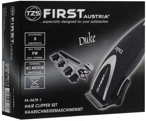 Машинка для стрижки волос First 5678-1 чёрный