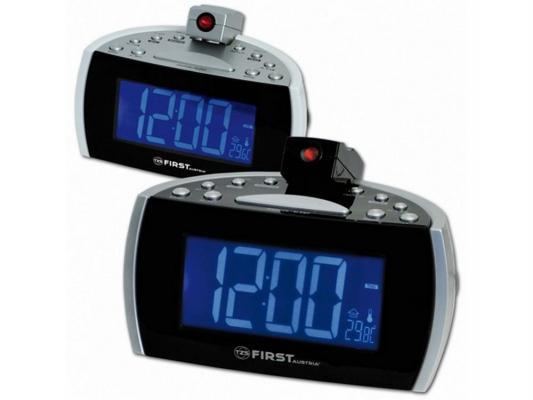 Часы с радиоприёмником First 2421-2 чёрный серый