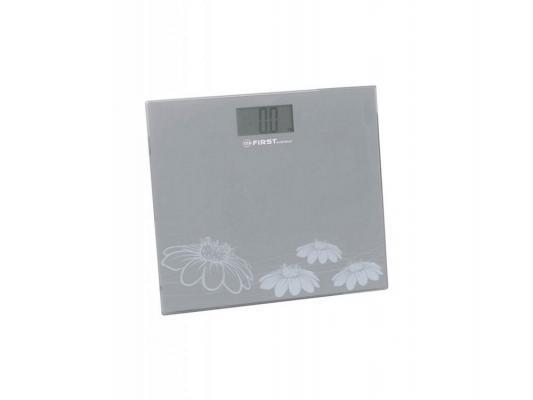 Весы напольные First 8015-2 серый весы first fa 8015 2 blue