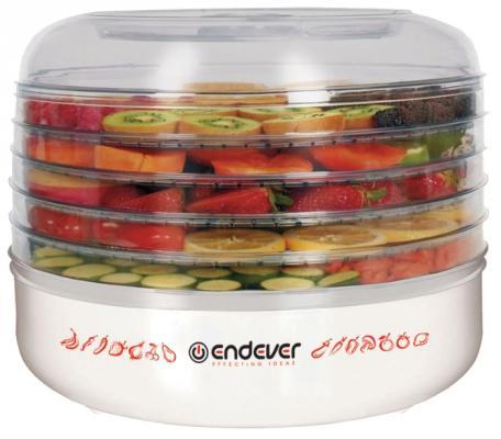 Сушка для овощей и фруктов Endever Skyline FD-56 360Вт белый сушилка для овощей endever skyline fd 56