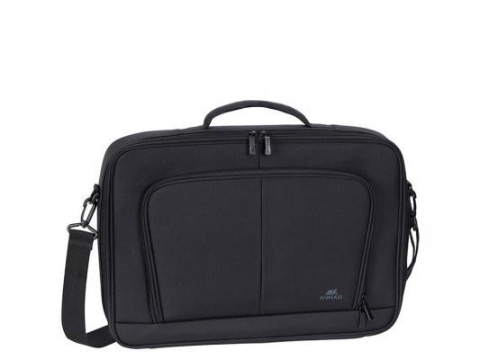 """Сумка для ноутбука 17.3"""" Riva 8451 полиэстер черный цена и фото"""