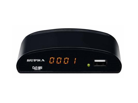 Тюнер цифровой DVB-T/DVB-T2 Supra SDT-83 черный