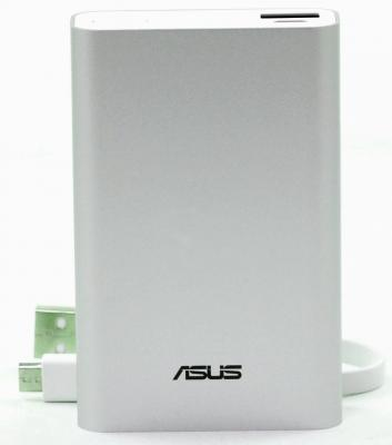 Портативное зарядное устройство Asus PowerBank ABTU005 10050мАч серебристый 90AC00P0-BBT027 портативное зарядное устройство asus zenpower abtu011 10050мач розовый 90ac0180 bbt025
