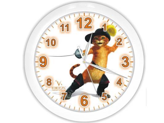 Часы настенные Вега П 1-7-7-126 Кот в сапогах