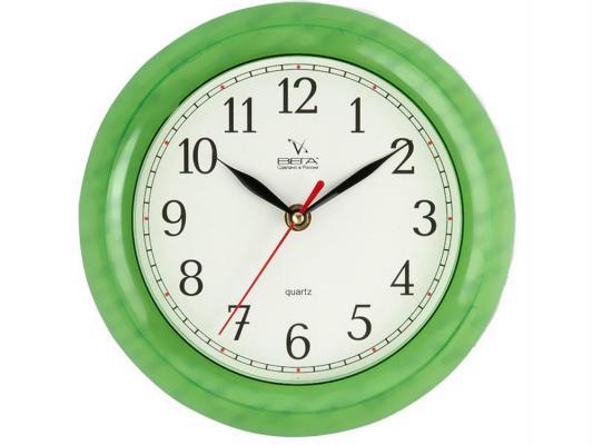 Часы настенные Вега П 6-3-98 зелёный