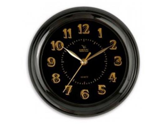 Часы настенные Вега П 6-6-100 чёрный часы настенные вега п 6 6 100 чёрный