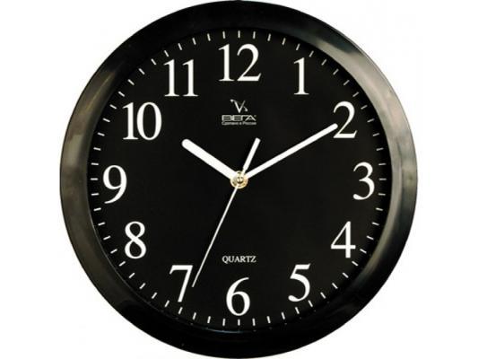 Часы настенные Вега П 1-6/6-6 чёрный часы настенные вега п 6 6 100 чёрный
