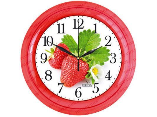 Часы настенные Вега П 6-1-101 рисунок красный цена