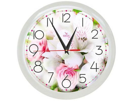 Часы ВЕГА П 1-7/7-211 Цветы белый букет
