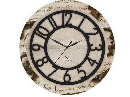 Часы настенные Вега П 1-242/6-242 рисунок бежевый часы вега п 1 8 6 208 мусульманские темный город
