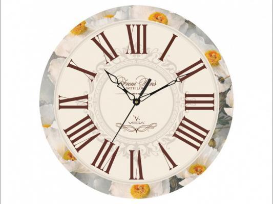 Часы настенные Вега П 1-245/7-245 рисунок белый д 245 бу купить авито