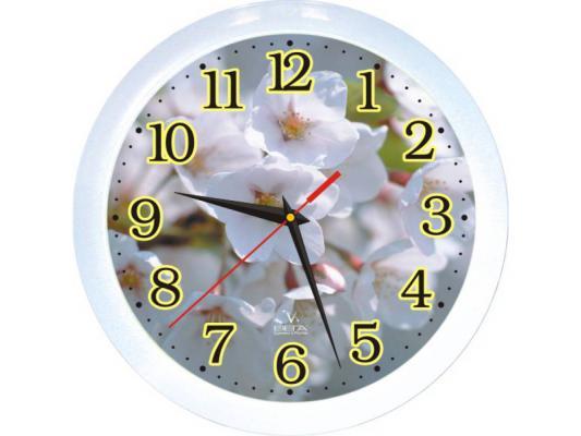 Часы ВЕГА П 1-7/7-3 Белые Цветы часы вега п 2 10 7 23 мусульманский город