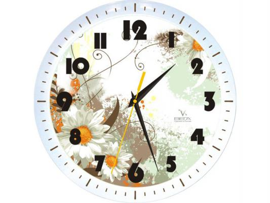 Часы настенные Вега П 1-798/7-49 Белая Ромашка часы настенные вега п 4 14 7 86 новогодние подарки