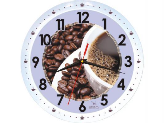 Часы настенные Вега П 1-799/7-53 Зерна кофе рисунок белый кронштейн kromax vega 50 белый