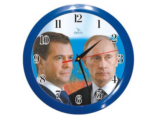 """Часы ВЕГА П 1-10/7-40 """"Путин+Медведев"""""""