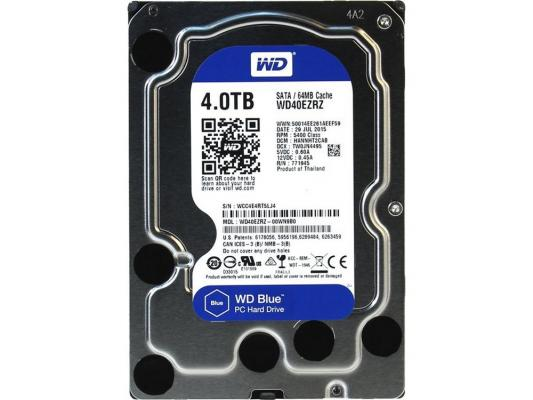 Жесткий диск 3.5 4 Tb 5400rpm 64Mb cache Western Digital Blue SATAIII WD40EZRZ 2000gb western digital wd20ezrz 64mb 5400rpm sata3 blue desktop