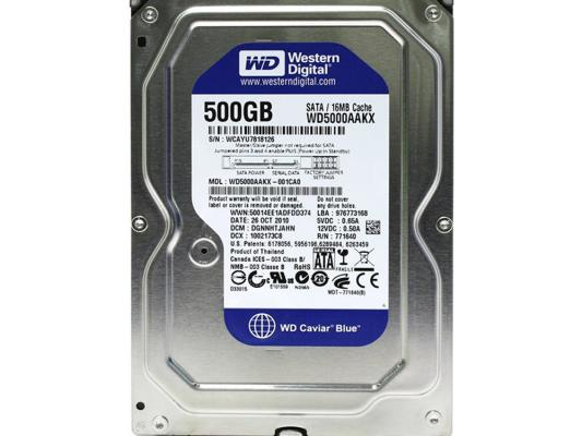 "все цены на Жесткий диск 3.5"" 500 Gb 5400rpm 64Mb cache Western Digital Blue SATAIII WD5000AZRZ"