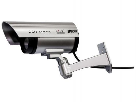 Муляж камеры видеонаблюдения FORT Automatics DC-027 наружное исполнение красный светодиод RET