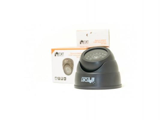 Муляж камеры видеонаблюдения FORT Automatics DC-024 купольное исполнение черный
