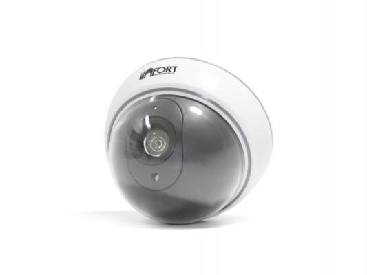 Муляж камеры видеонаблюдения FORT Automatics DC-023  купольное исполнение белый