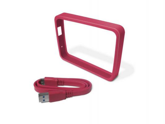"Чехол для HDD 2.5"" WD My Passport Ultra WDBFMT0000NPM-EASN + кабель розовый"