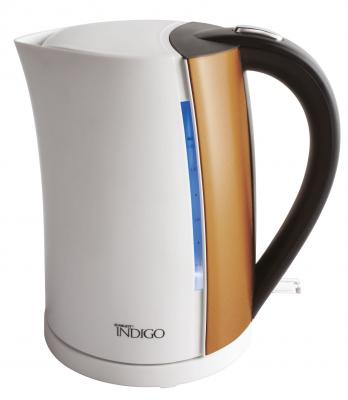 Чайник Scarlett IS-EK20P01 2200 белый коричневый 1.7 л металл/пластик scarlett чайник scarlett is 503 белый