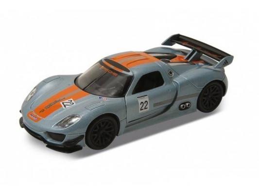 Автомобиль Welly Porsche 918 RSR 1:24 серебристый 24044 автомобиль hoffmann porsche 918 spyder concept 1 24 серебристый