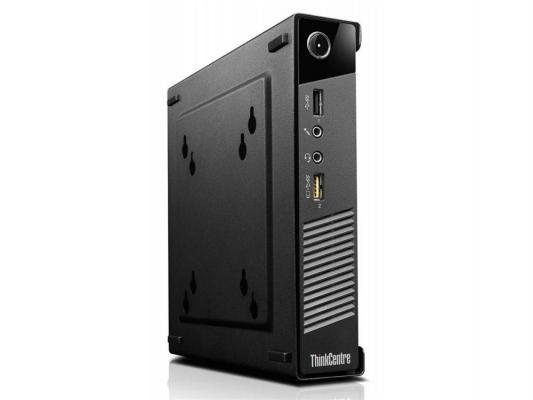 Неттоп Lenovo ThinkCentre M53 Tiny J1800 2.4GHz 4Gb 500Gb Intel HD WiFi Win8.1 клавиатура мышь черный 10DE001NRU  ThinkCentre M53 Tiny