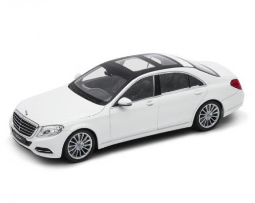 Автомобиль Welly Mercedes-Benz S-Class 1:24 серебристый 24051 welly модель автомобиля mercedes benz g63 amg 6x6 масштаб 1 24 цвет бежевый