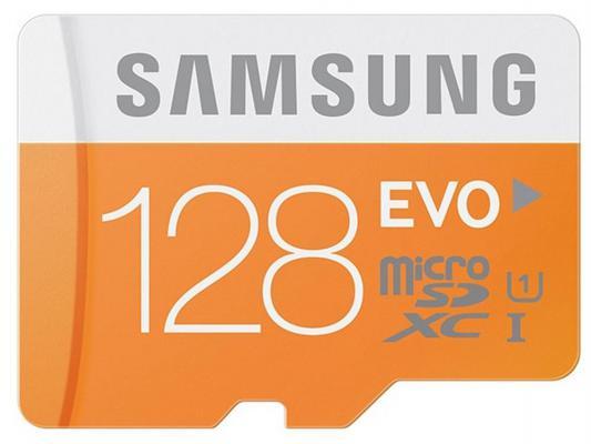 Карта памяти Micro SDXC 128Gb Class 10 Samsung MB-MP128DA + SD adapter
